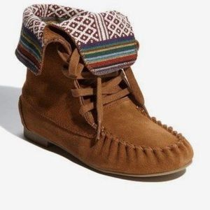 Steve Madden fold  over moccasin booties